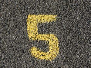 Nazwij pięć